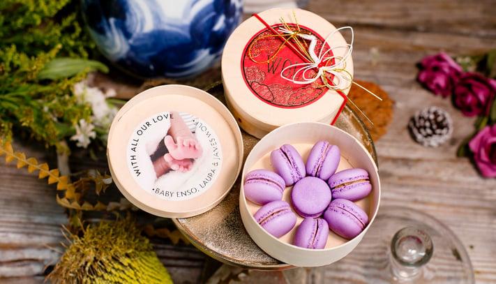 Jouer Chinese Vinegar and Ginger Macaron Gift Box in Bamboo Box
